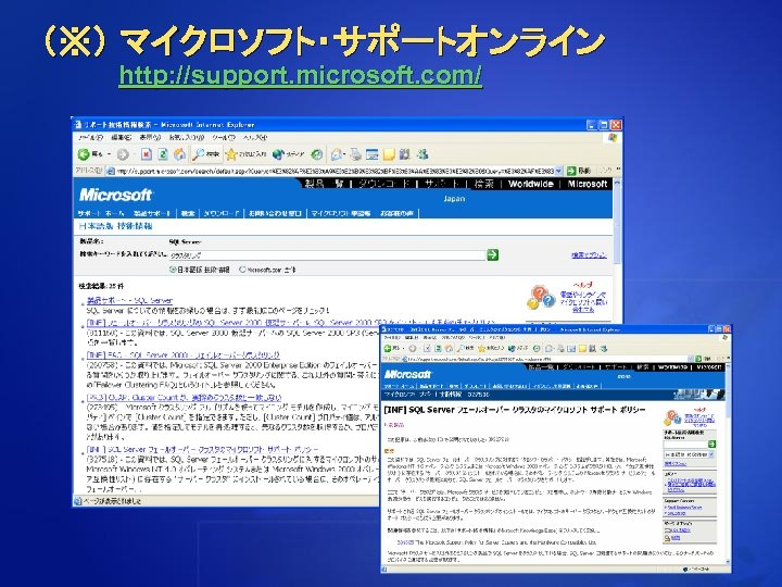 (※) マイクロソフト・サポートオンライン http: //support. microsoft. com/