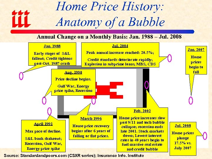 Home Price History: Anatomy of a Bubble Annual Change on a Monthly Basis: Jan.