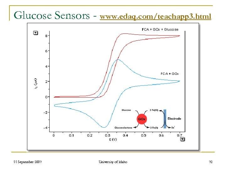 Glucose Sensors - www. edaq. com/teachapp 3. html 11 September 2007 University of Idaho