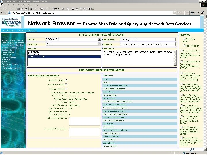 Network Browser – Browse Meta Data and Query Any Network Data Services 37