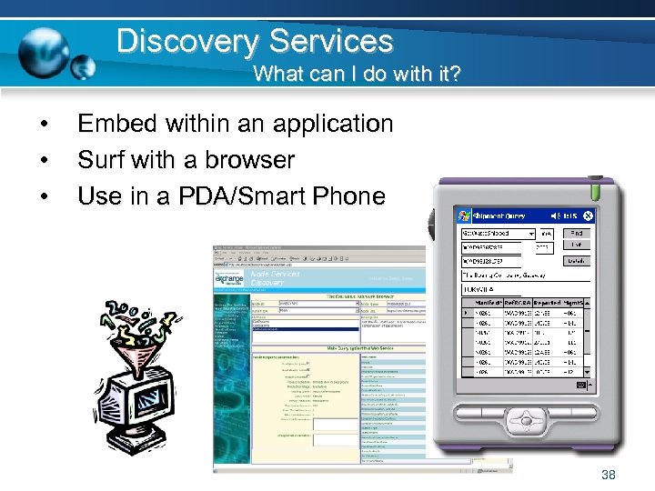 Discovery Services What can I do with it? • • • Embed within an