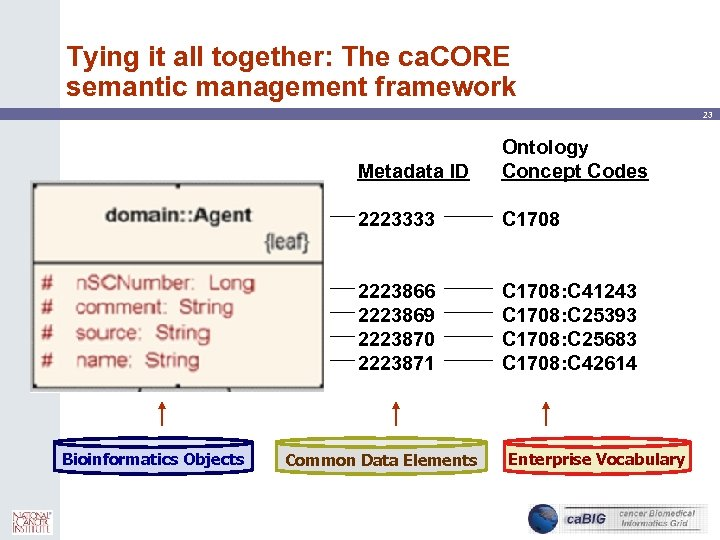 Tying it all together: The ca. CORE semantic management framework 23 Metadata ID 2223333