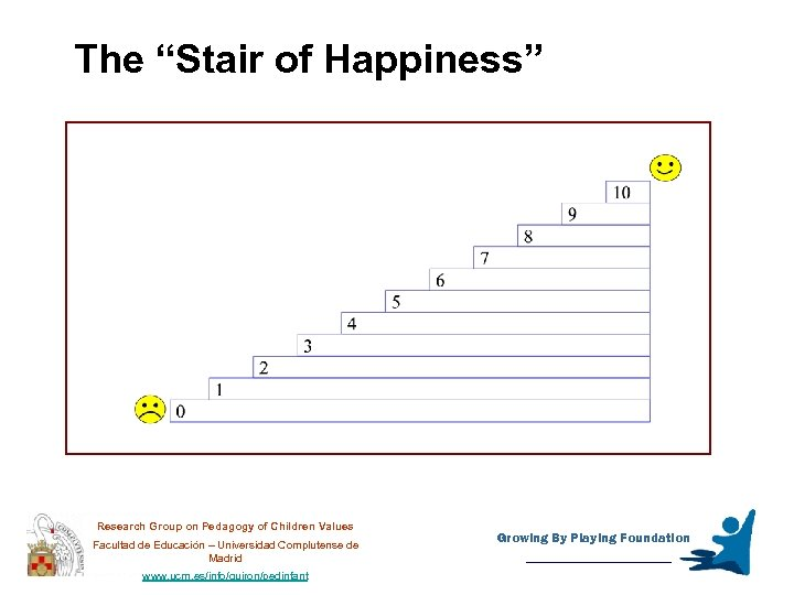 """The """"Stair of Happiness"""" Research Group on Pedagogy of Children Values Facultad de Educación"""
