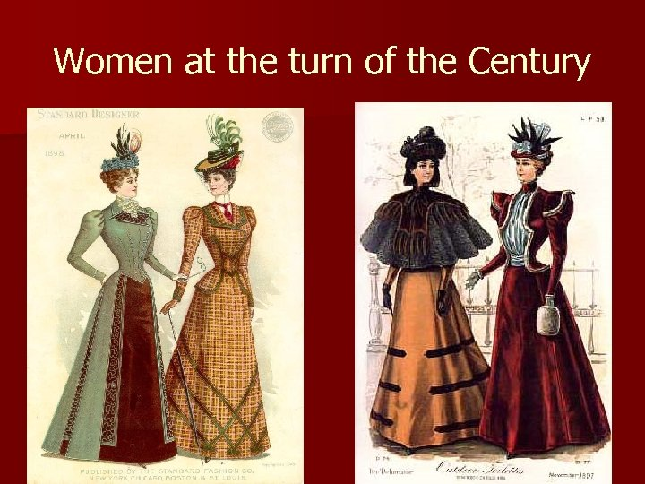 Women at the turn of the Century