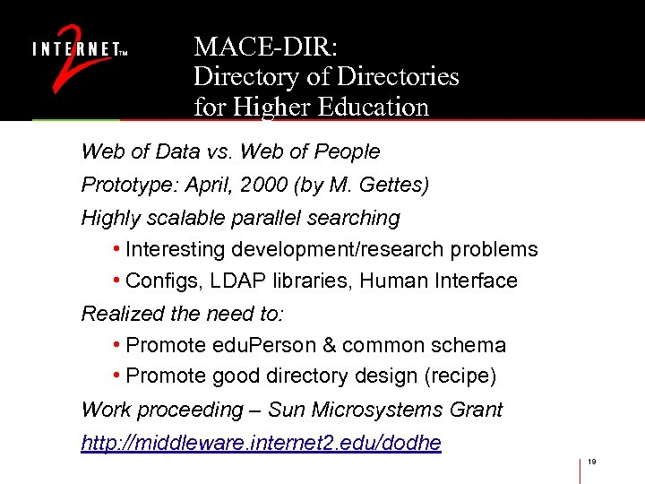 MACE-DIR: Directory of Directories for Higher Education Web of Data vs. Web of People