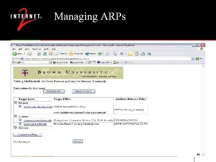 Managing ARPs 45