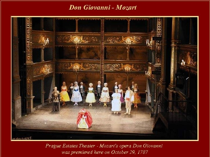 Don Giovanni - Mozart Prague Estates Theater - Mozart's opera Don Giovanni was premiered