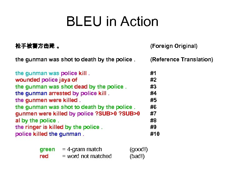 BLEU in Action 枪手被警方击毙 。 (Foreign Original) the gunman was shot to death by