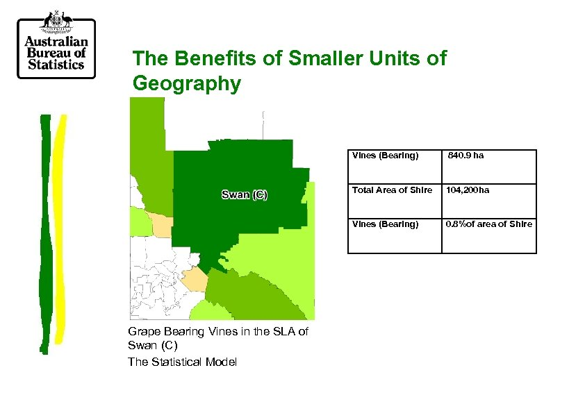 The Benefits of Smaller Units of Geography Vines (Bearing) Total Area of Shire 104,