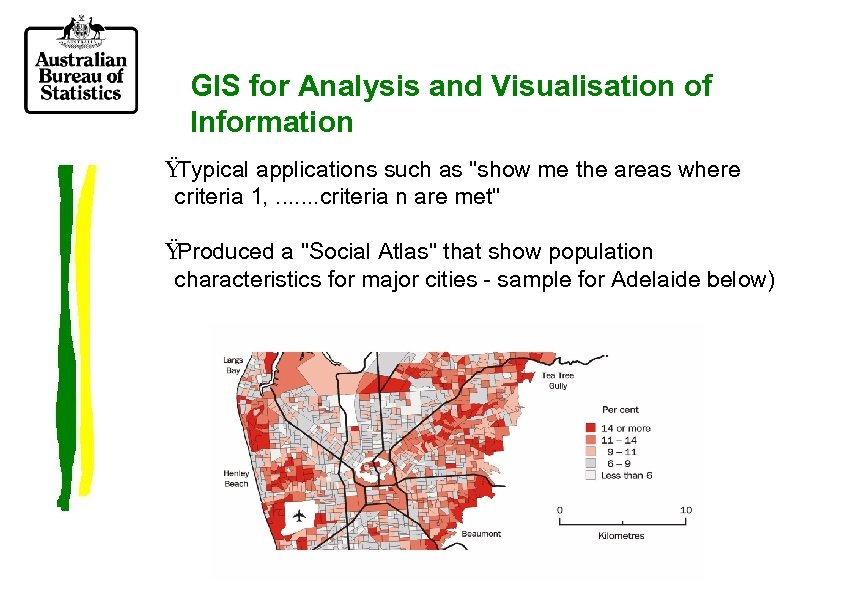 GIS for Analysis and Visualisation of Information Ÿ Typical applications such as