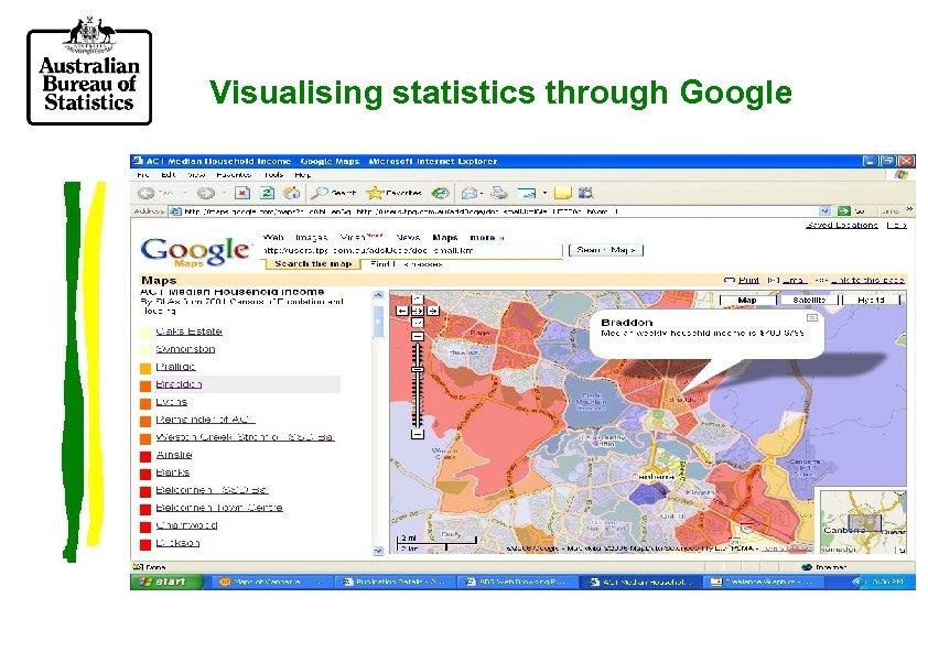 Visualising statistics through Google
