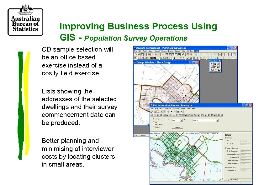 Improving Business Process Using GIS - Population Survey Operations CD sample selection will be