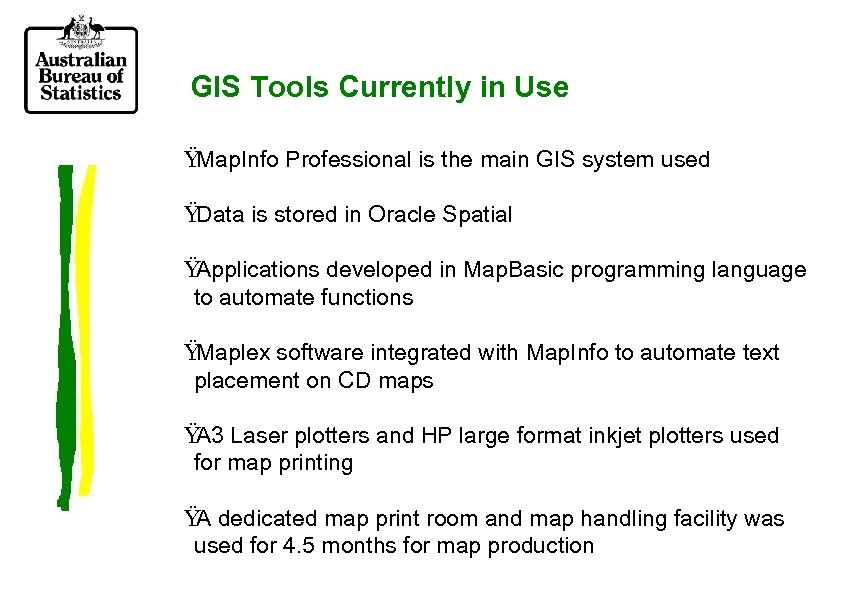 GIS Tools Currently in Use Ÿ Map. Info Professional is the main GIS system