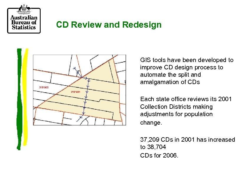 CD Review and Redesign GIS tools have been developed to improve CD design process