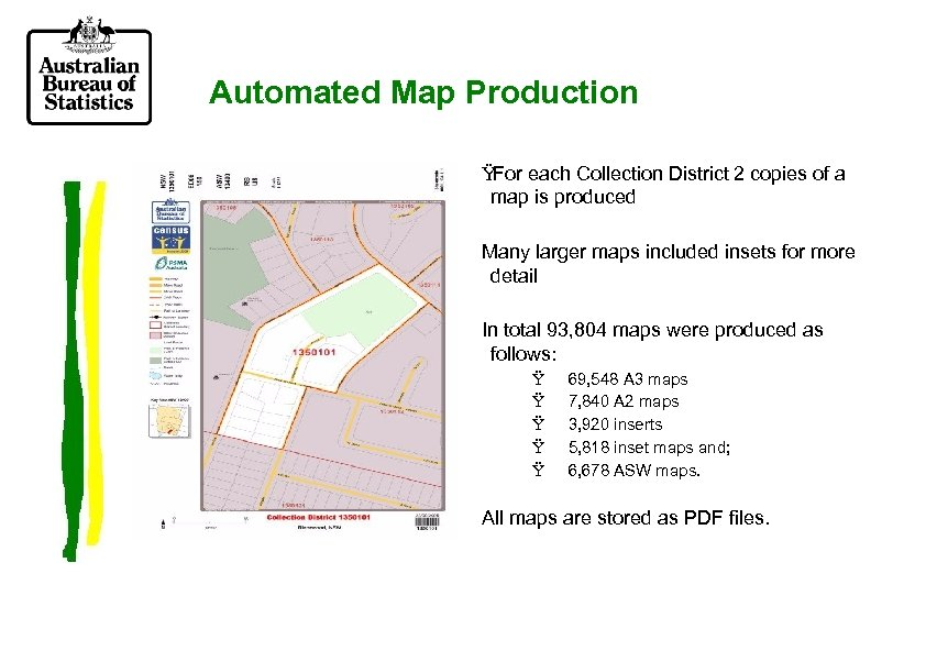 Automated Map Production Ÿ For each Collection District 2 copies of a map is
