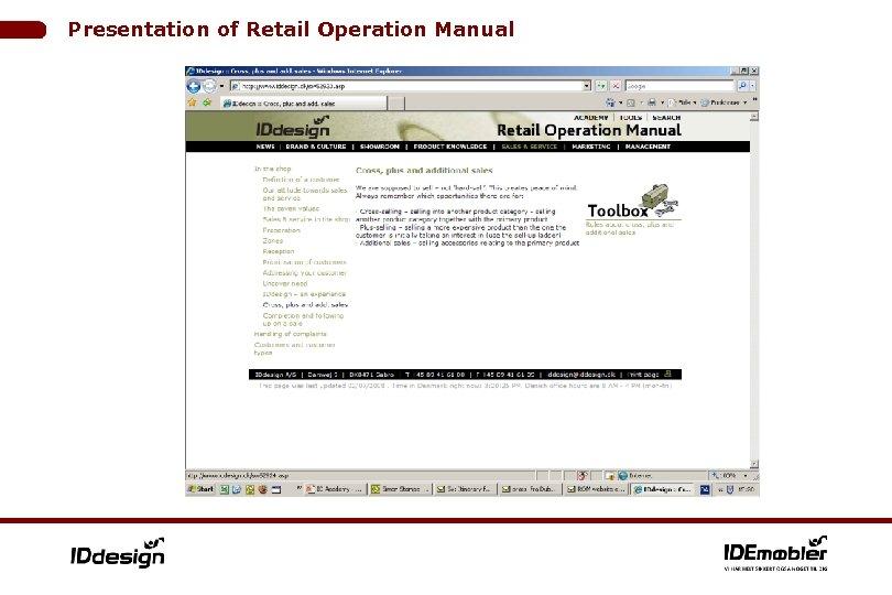 Presentation of Retail Operation Manual