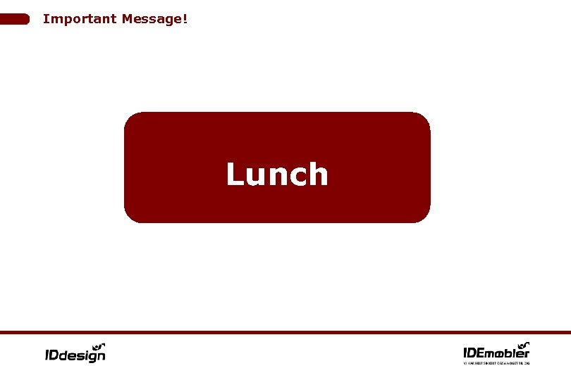 Important Message! Lunch