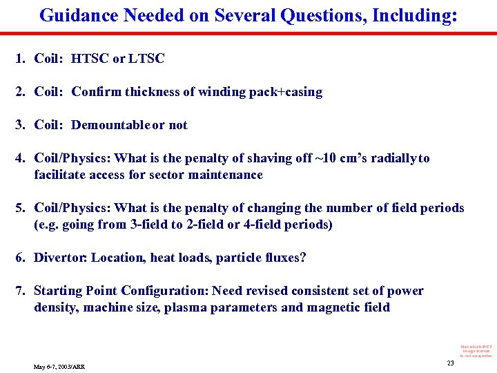 Guidance Needed on Several Questions, Including: 1. Coil: HTSC or LTSC 2. Coil: Confirm