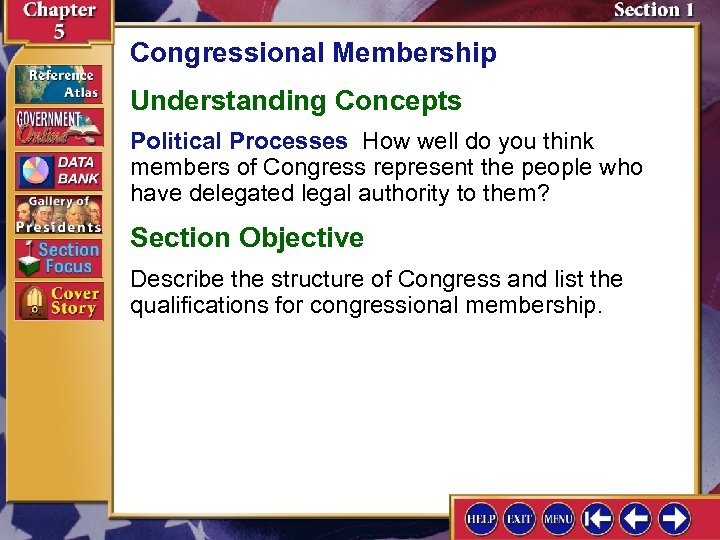 Congressional Membership Understanding Concepts Political Processes How well do you think members of Congress