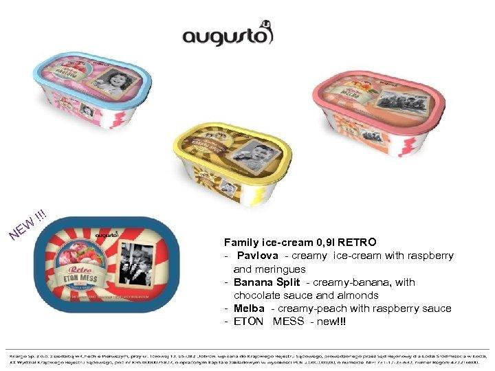 ! N !! EW Family ice-cream 0, 9 l RETRO - Pavlova -