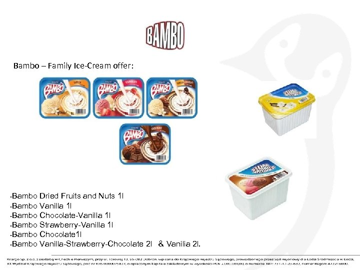 Bambo – Family Ice-Cream offer: Bambo Dried Fruits and Nuts 1 l • Bambo