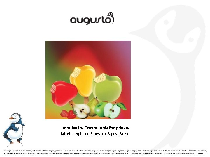 Impulse Ice Cream (only for private label: single or 3 pcs. or 6 pcs.