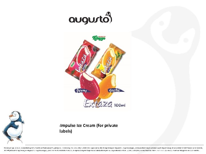 Impulse Ice Cream (for private labels) •