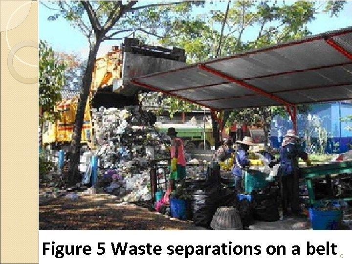 Figure 5 Waste separations on a belt 10