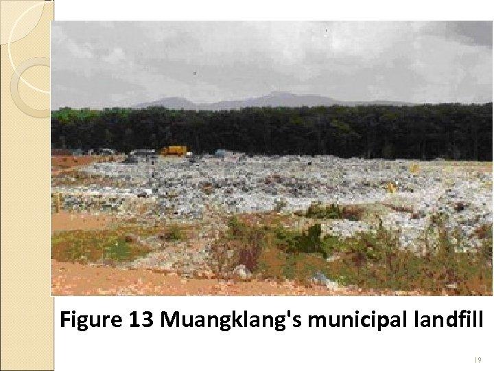 Figure 13 Muangklang's municipal landfill 19