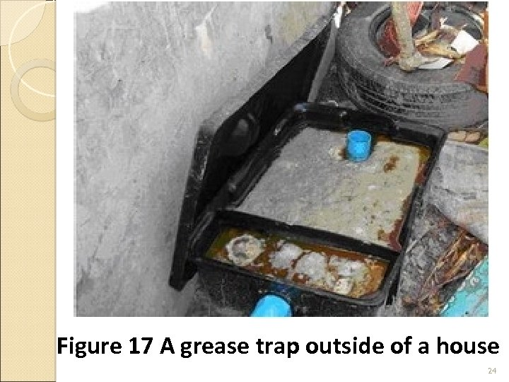 Figure 17 A grease trap outside of a house 24