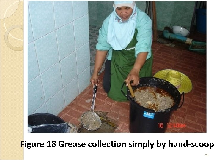 Figure 18 Grease collection simply by hand-scoop 25