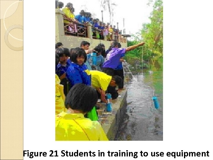 Figure 21 Students in training to use equipment 28