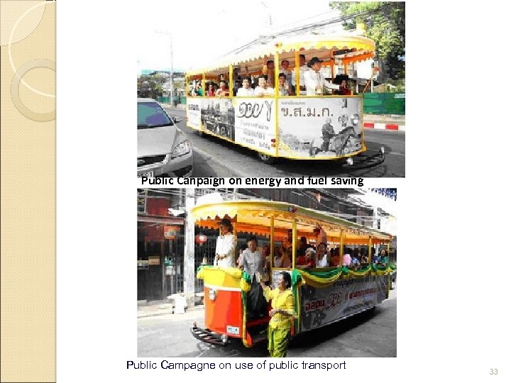 Public Canpaign on energy and fuel saving Public Campagne on use of public transport