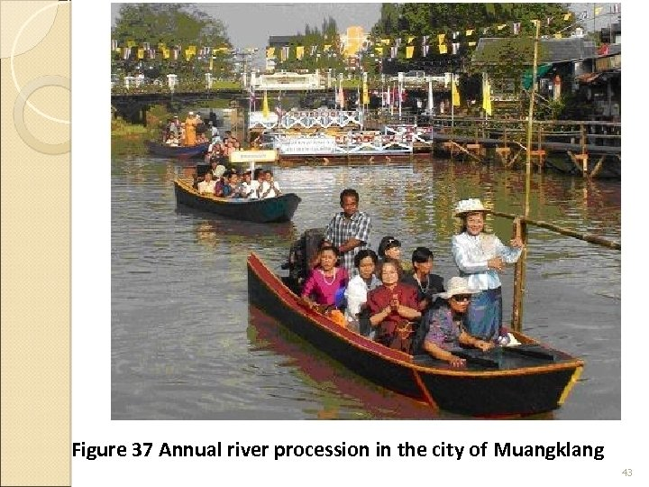 Figure 37 Annual river procession in the city of Muangklang 43