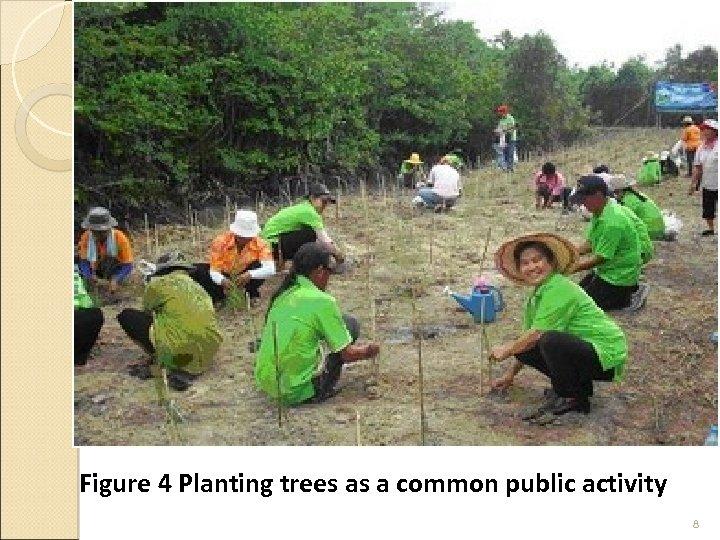 Figure 4 Planting trees as a common public activity 8
