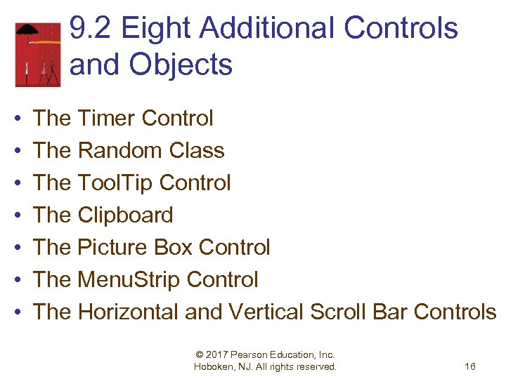 9. 2 Eight Additional Controls and Objects • • The Timer Control The Random