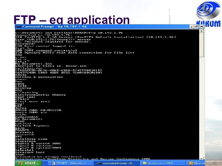 FTP – eg application