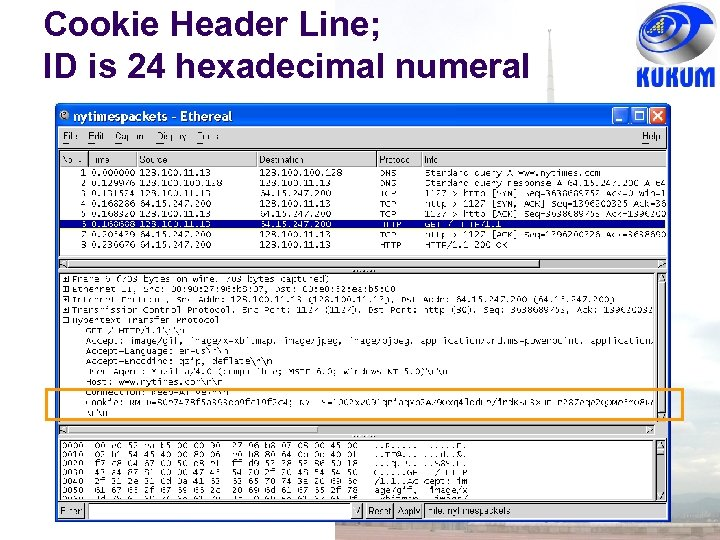 Cookie Header Line; ID is 24 hexadecimal numeral
