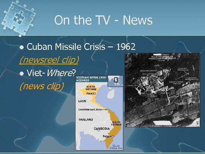 On the TV - News l Cuban Missile Crisis – 1962 (newsreel clip) l
