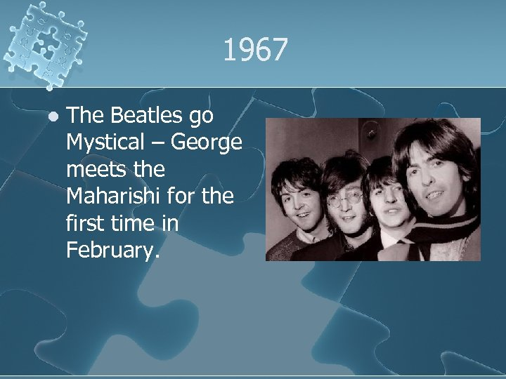 1967 l The Beatles go Mystical – George meets the Maharishi for the first