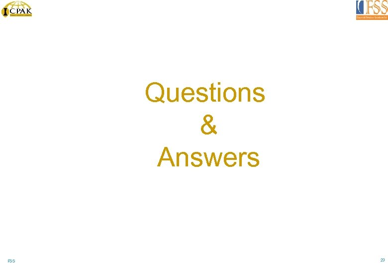 Questions & Answers FSS 23