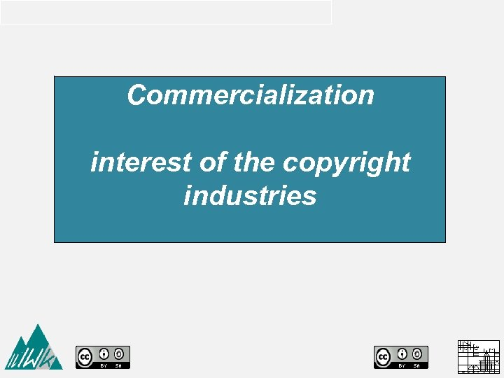 Commercialization interest of the copyright industries