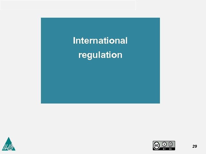 International regulation 29