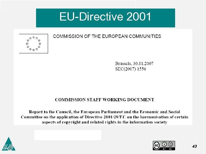 EU-Directive 2001 43