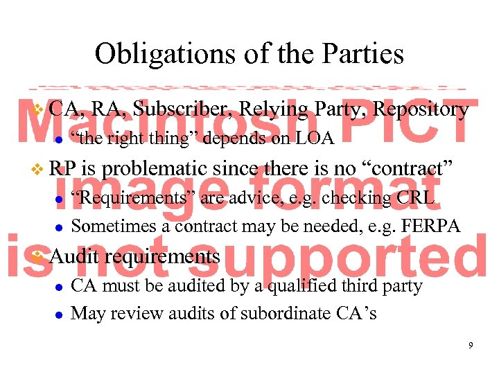 "Obligations of the Parties v CA, l ""the right thing"" depends on LOA v"