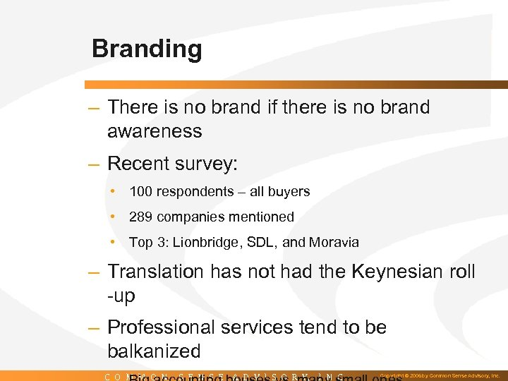 Branding – There is no brand if there is no brand awareness – Recent