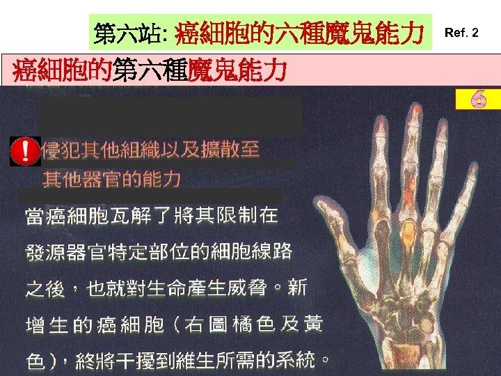 第六站: 癌細胞的六種魔鬼能力 癌細胞的第六種魔鬼能力 Ref. 2