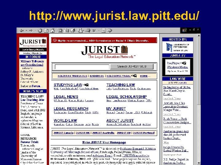 http: //www. jurist. law. pitt. edu/
