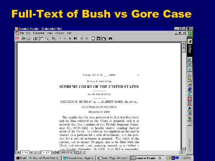 Full-Text of Bush vs Gore Case