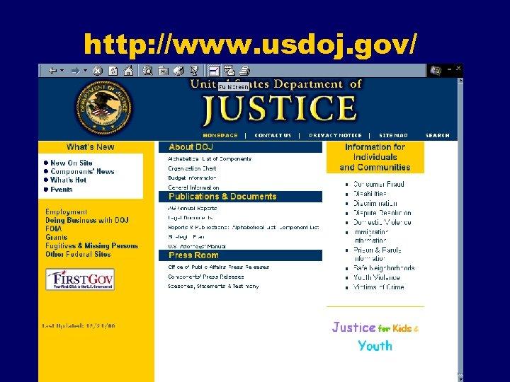 http: //www. usdoj. gov/